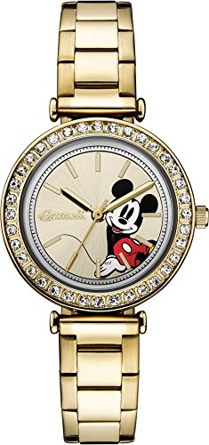 Ingersoll Disney Women's Union Quartz Watch with Gold Dial and Gold Leather Strap ID00304