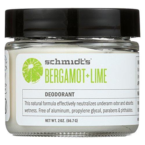 Schmidt's Deodorant - Natural Deodorant Bergamot + Lime - 2 oz.