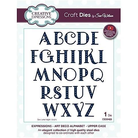 Craft Die ced5423Sue Wilson Expressions–Art Deco Alfabeto–Upper Case