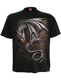 Spiral T-shirt pour homme Motif obsidienne Noir