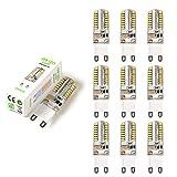 Sominue 10er Pack LED G9 Birnen 5W Leuchtmittel AC220V Ersatz für 40W Halogen Lampen 380LM 360° Abstrahlwinkel Warmweiß
