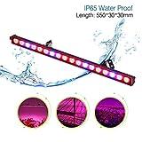 Roleadro Luz Led para Plantas IP65 54W Lampara Para Crecimiento de Plantas Interior Con Rojo Azul Luces 55x3x3CM
