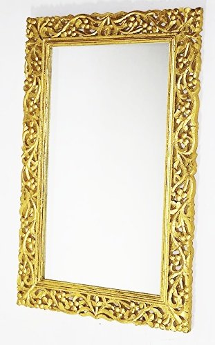 Buy Monica Hand Carved Wall Mirror Frame Online at Low ...