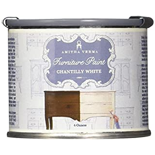 Amitha Verma Furniture Paint (Chantilly White, 4oz)