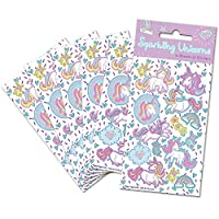 Paper Projects 01.70.15.042 Unicorns Party Bag Stickers (6 Sheets), Multi-Colour