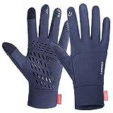 coskefy Touchscreen Handschuhe Sport Elastisch Leicht Atmungsaktiv Outdoor Gloves Damen Herren Rutschfest Winddicht Winter Motorrad Fahrrad Camping Wandern Bergsteigen(Grau-B,S)