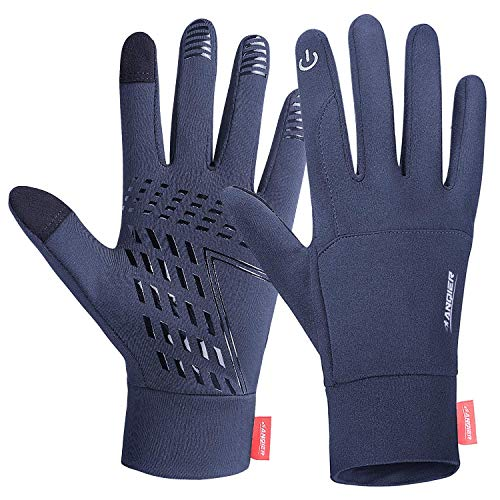 coskefy Touchscreen Handschuhe Sport Elastisch Leicht Atmungsaktiv Outdoor Gloves Damen Herren Rutschfest Winddicht Winter Motorrad Fahrrad Camping Wandern Bergsteigen(Grau-B,M)