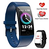 WENVVIS Montre Connectée, Bracelet Connecté Cardiofréquencemètre Femmes Homme, Tracker d'Activité Écran Coloré Cardio Etanche IP67 Sports Smart Watch, Podomètre Smartwatch Poignet Marche (Blue)...