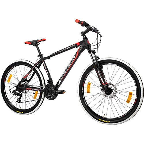 Galano 27,5 Zoll 650B MTB Toxic Mountainbike Scheibenbremsen Shimano (schwarz/rot, 51 cm)