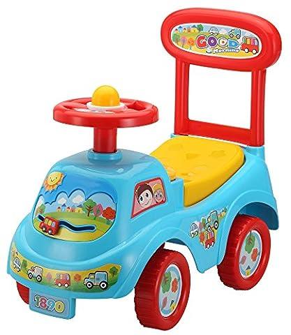 Rutschauto in 10 verschiedenen Modellen - Ein guter und preiswerter Aufsitzwagen Rutschwagen Lauflernwagen Kinderfahrzeug , Modell:Blue