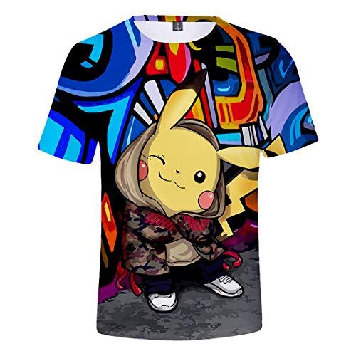 2018-Comics-Pikachu-Ultra-Loose-Tendencia-Impresin-3D-Manga-Corta-Camiseta-Hombres-Y-Mujeres-Gran-Tamao