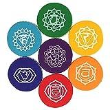 1 x Klangschalenkissen 7 Chakren - Farbe: gelb - Chakra 3 Manipura Solarplexus - 9,5 cm - CUTE NAILS