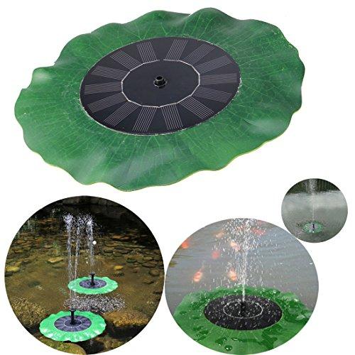Fontanella da giardino ad energia solare con 3 set ungelli disegno foglia lotus senza extra batteria by hi suyi