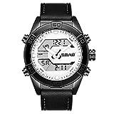 Xmansky Reloj deportivo multifunción impermeable al aire libre con calendario deportivo para hombre reloj multifuncional Pulsera Ajustable Correa de Reemplazo Deportivo
