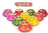 Tied Ribbons Handmade Matki Candle Set of 10