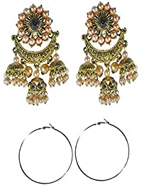 S&S Party Wear Earrings For Women Combo Of 2 Stylish Earring Sets In Different Designs In Cheap Price Designer...