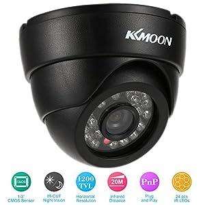 camara circuito cerrado: KKmoon HD 1200TVL Cámara de Vigilancia en Domo 1/3¡± CMOS IR-Cut CCTV Sistema de...