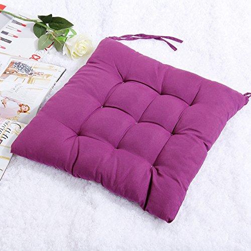 prochive Seat Pads Krawatte auf Stuhl, Büro Pad Kissen Stuhl Sitz Kissen Gesäß Kissenbezug Pads, Home Esstisch Terrasse Küche Decor–Violett (Patio-dekor-kissen)