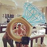 YOUYONGSR Hot Sale riesigen Diamanten Ring aufblasbare Matratze Schwimmen Kreis Pool schwimmen Party Spielzeug Rohr Floß für Erwachsene Weiß Vergleich