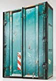 lifestyle4living Schwebetürenschrank, Kleiderschrank, Schrank, Schlafzimmerschrank, Schweber, Schwebetüren, Schrankprogramm, Container-Look, Petrol