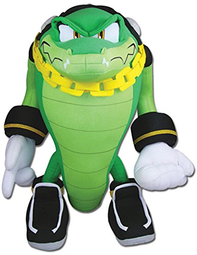 GE Animation Great Eastern GE-52633 Sonic The Hedgehog Vector The Crocodile Stuffed Plush, 13""
