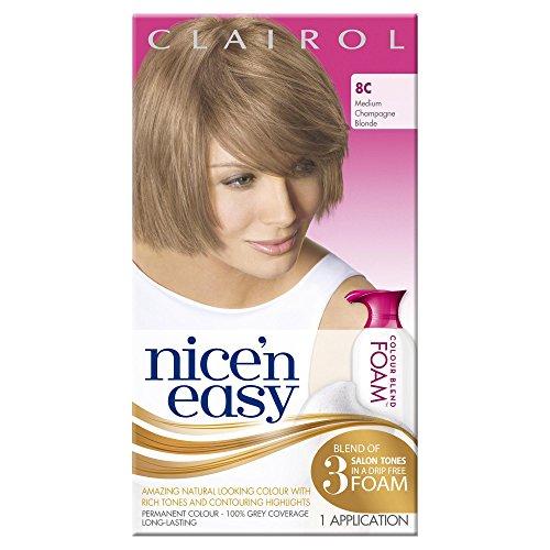 clairol-nicen-easy-colour-blend-foam-permanent-hair-dye-medium-champagne-blonde-8c