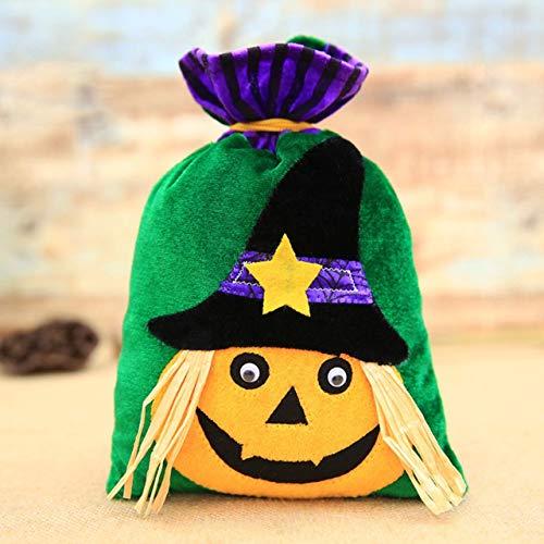 Jasnyfall Kürbis Halloween Halloween Kürbis Dekoration Vliesstoff Kinder Kinder Halloween Cartoon Kordelzug Süßigkeiten Geschenktüte