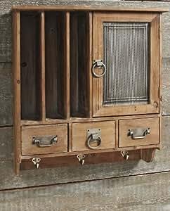 Wandschrank Milton Garderobe Landhaus Metall Holz