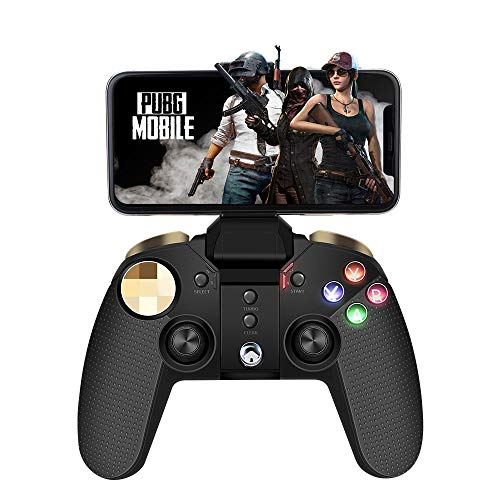 Mobiler Gamecontroller, PowerLead PG-9118 Joystick Multimedia-Gamecontroller Drahtloses Wireless Gamepad Kompatibel mit iOS Android-Handy-Tablet-PC-Android-TV-Box