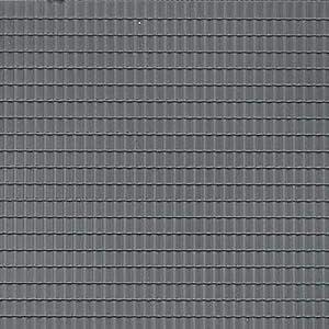 Auhagen 52.226,0 - Paneles Decorativos Teja, 10 x 20 cm Superficie de la Estructura, de Color Gris Oscuro