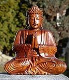 Super schöner 20 cm Gebet BUDDHA Meditation HOLZ BUDDA Feng Shui BMGEBET20
