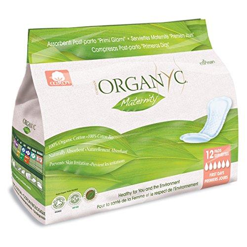 ORGANYC Wochenbetteinlagen 12 Stück ohne Plastik, Bio-Baumwolle
