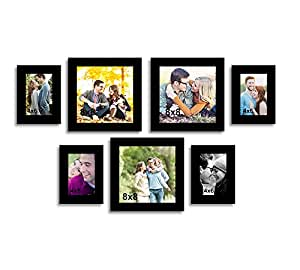 Happy Hopes Art Street Set of 7 Individual Photo Frame - Size 4x6, 8x8x