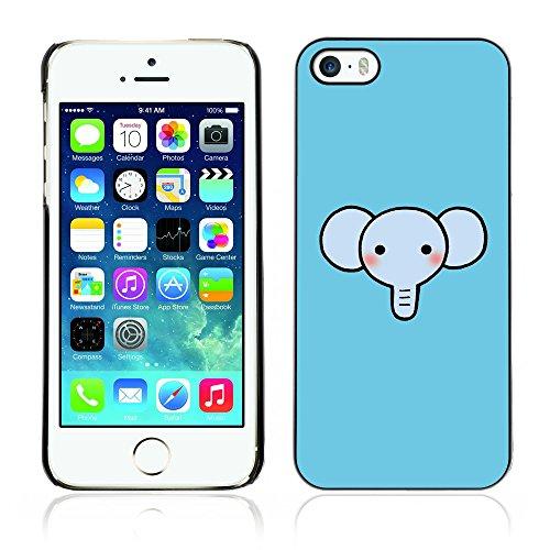 Graphic4You Elefant Tier Drawing Painting Design Harte Hülle Case Tasche Schutzhülle für Apple iPhone 5 und 5S Design #4