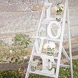 Surenhap Décoratif Bois Lettres Love Blanc Alphabet Parole Libre Debout pour La Fête De Mariage Décor