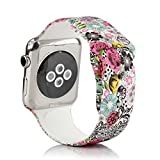#10: Bemorcabo Replacement Bands for Apple Watch Smart Watch Bracelet iWatch Strap Silicone Wristband 38mm or 42mm for Both Series 1 and Series 2