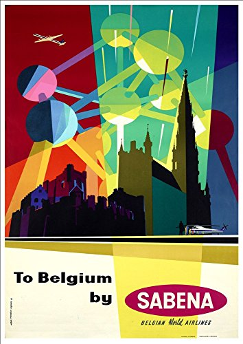 to-belgium-by-sabena-wonderful-a4-glossy-art-print-taken-from-a-rare-vintage-travel-poster