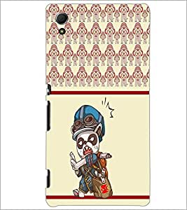 PrintDhaba Cartoon D-3362 Back Case Cover for SONY XPERIA Z4 (Multi-Coloured)