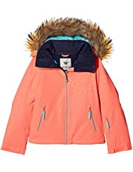 Roxy Jet Ski Solid Girl Jk Chaqueta para Nieve, Niñas, Rosa (Emberglow Stripe_1), 14/XL