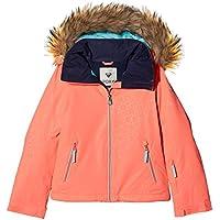 Roxy Jet Ski Solid Girl Jk Chaqueta para Nieve, niñas, Rosa (Emberglow Stripe_1), 16/XXL