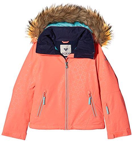 c932db00 Roxy Jet Ski Solid Girl Jk Chaqueta para Nieve, niñas, Rosa (Emberglow  Stripe_1