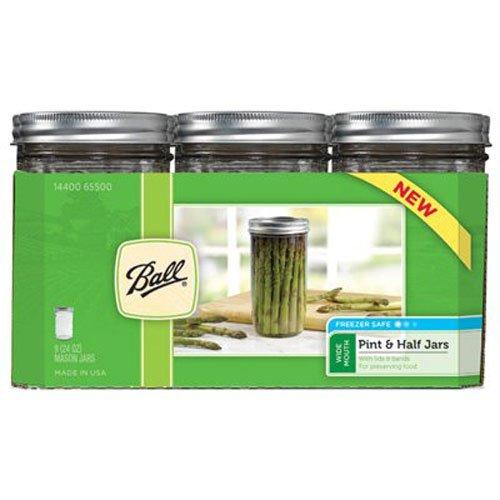 Ball Mason 4oz Quilted Jelly Jars With Lids and baands, Set of 12 Set 9 Ballgläser WM Pint & Half durchsichtig