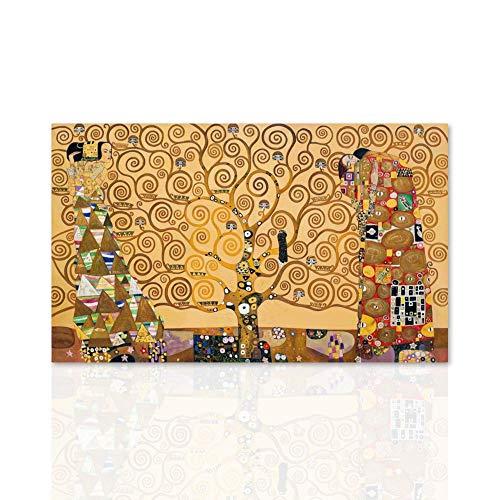 Declea quadro su tela gustav klimt l'albero della vita canvas arte riproduzione su tela telaio in legno realizzato a mano arredo casa home parete design