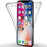 "Funda iPhone X, Leathlux Carcasa Ultra Delgado de TPU Silicona Transparente Skin Cover Resistente Anti-Arañazos Protectora Bumper Parachoques Case Cover para Apple iPhone X / iPhone 10 5.8"""
