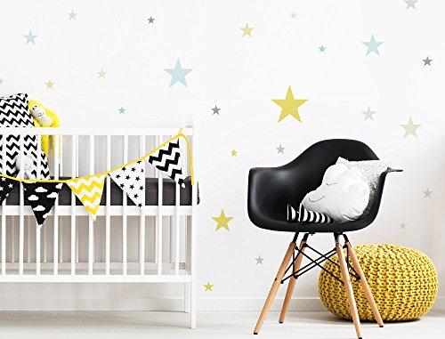 Sticker mural chambre d'enfant autocollants de décoration étoiles dans frais co