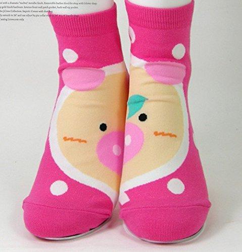Paar Low Cut Sock (Kiss Socks 3Paar Animal Socken Low Cut Socks Lamb Face, Piglet Socks, Medium)
