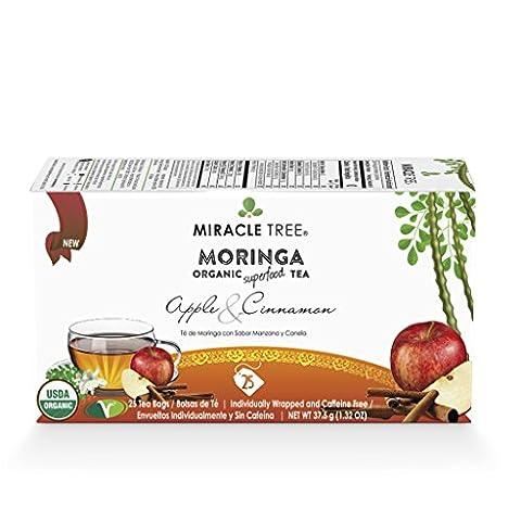 Miracle Tree Organic Moringa Tea, Apple & Cinnamon
