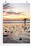 Eau Zone Home Bild - Art Fotos - Surfer am Wattenmeer-