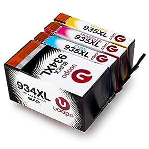 Uoopo Multipack Sostituzione per HP 934XL 935XL Cartucce d'Inchiostro Alta Capacità per Stampante for HP Officejet Pro 6830 6230 6820 6812 6815 6835 (1 Nero 1 Cian,1 Magenta 1 Giallo)