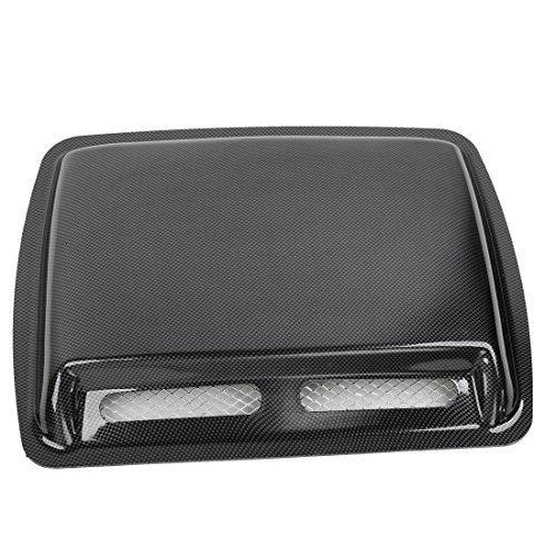 sourcingmap® Car Automobile Carbon Fiber Air Flow Fender Bumper Hood Scoop Ornament Black
